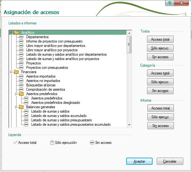09-Pantalla de asignacion de accesos a informes de ContaPlus