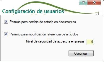 pantalla de configuracion de usuarios