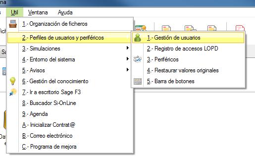 Útil - perfiles de usuarios y periferícos - gestión de