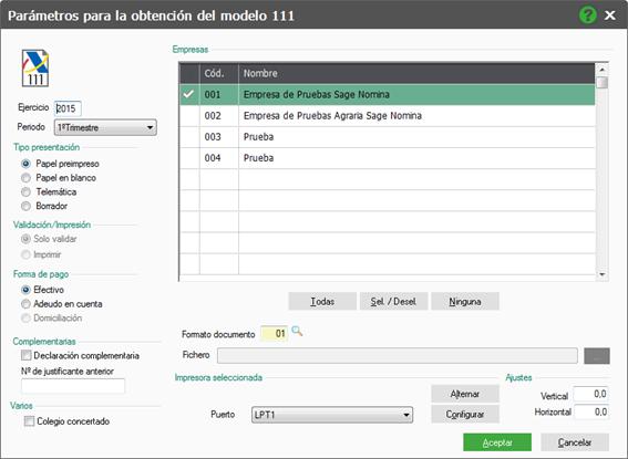 C mo generar el modelo 111 en nominaplus flex sage for Oficina virtual aeat