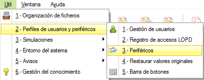 Útil / Perfiles de Usuarios y periféricos / Periféricos