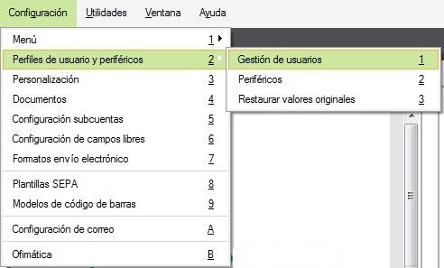 pantalla de seleccion del menu usuarios flex