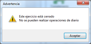 13-Pantalla de advertencia de ejercicio cerrado de ContaPlus Flex
