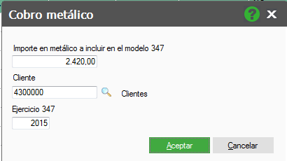 PANTALLA COBRO EN METÁLICO