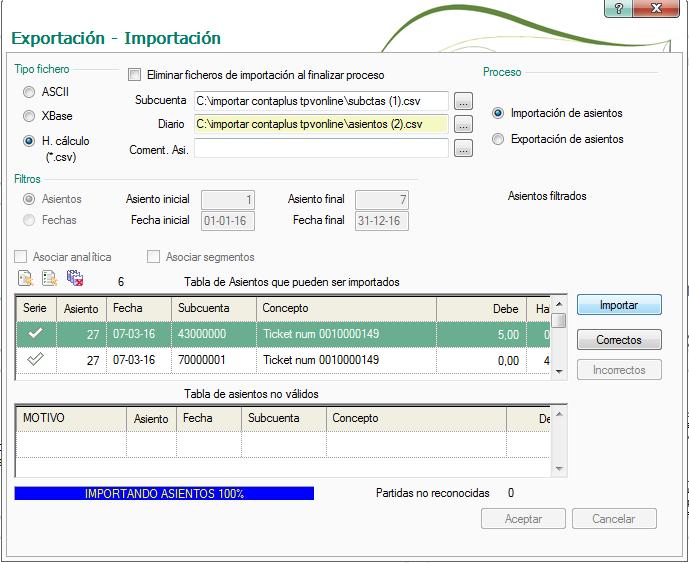 importación Contaplus