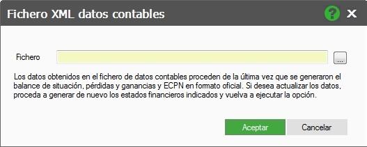 11-Pantalla fichero XML datos contables de ContaPlus Flex