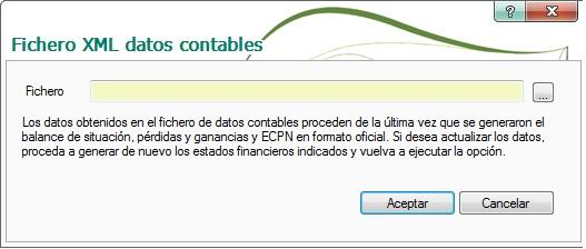 11-Pantalla fichero XML datos contables de ContaPlus