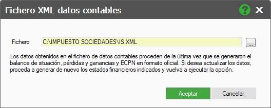 12-Pantalla fichero XML datos contables de ContaPlus Flex