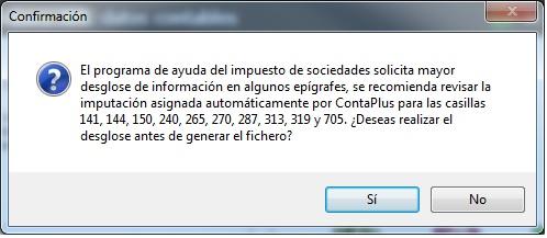 13-Pantalla con mensaje de confirmacion fichero XML datos contables de ContaPlus Flex