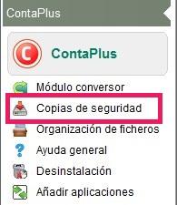02-Pantalla del icono de copias de seguridad de ContaPlus