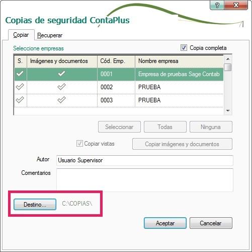 08-Pantalla de copias de seguridad ContaPlus