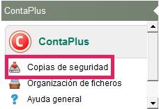 02-Pantalla del icono de copias de seguridad de ContaPlus Flex