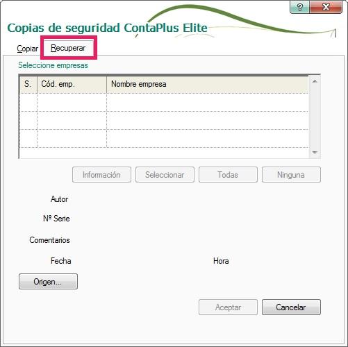 04-Pantalla de copias de seguridad ContaPlus