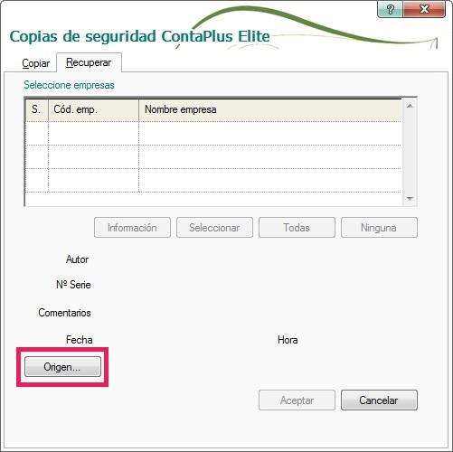 05-Pantalla de copias de seguridad ContaPlus