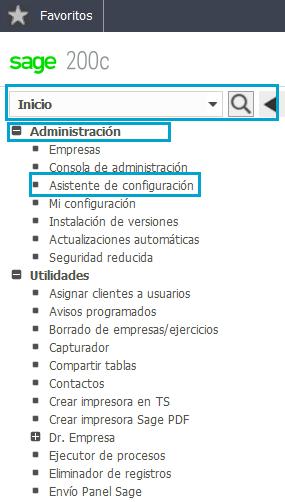 Acceso al Asistente de Configuración