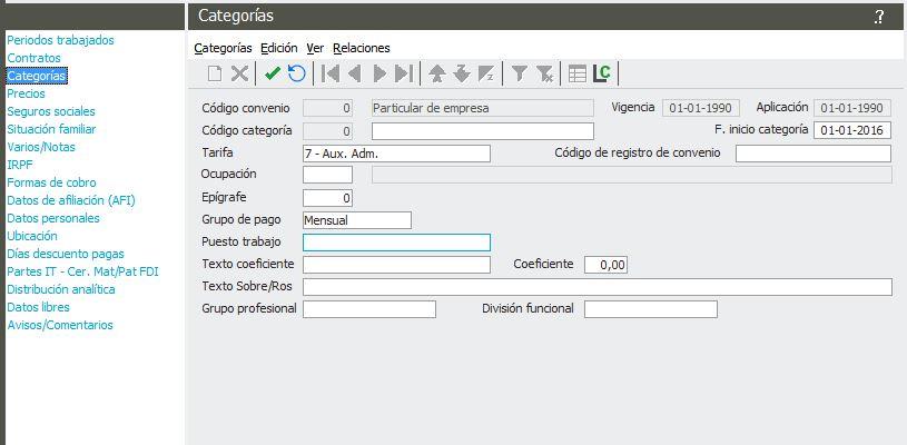 Informar Datos De Empleado Para El C Lculo De La N Mina En