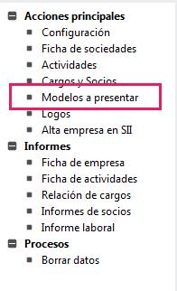 Modelos a Presentar