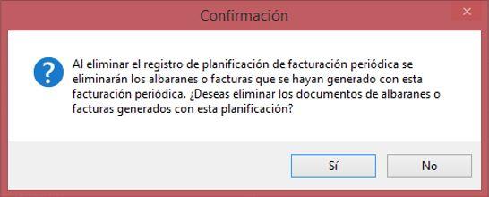 Información eliminación