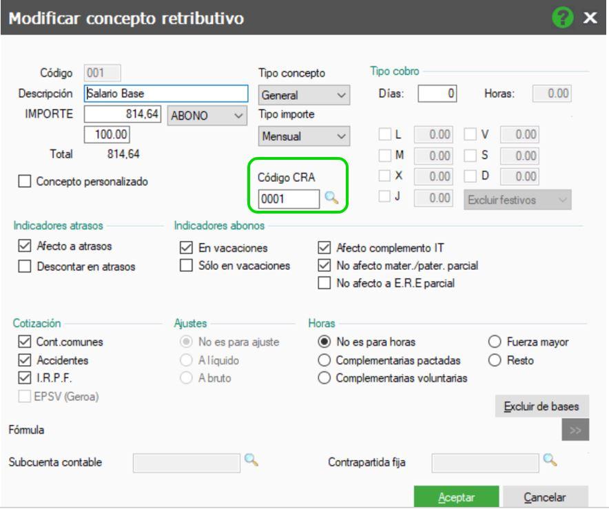 C Mo Generar El Fichero Cra En Nominaplus Flex Sage