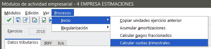 Calcular cuotas trimestrales