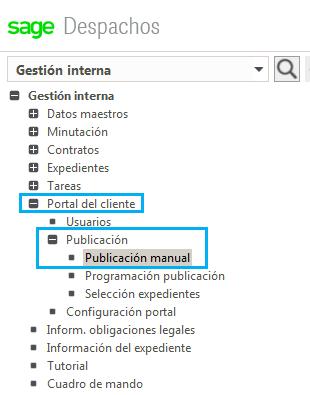 Publicación manual