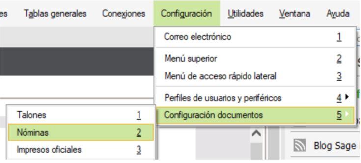 cómo configurar recibos de nóminas visualmente en nominaplus flex
