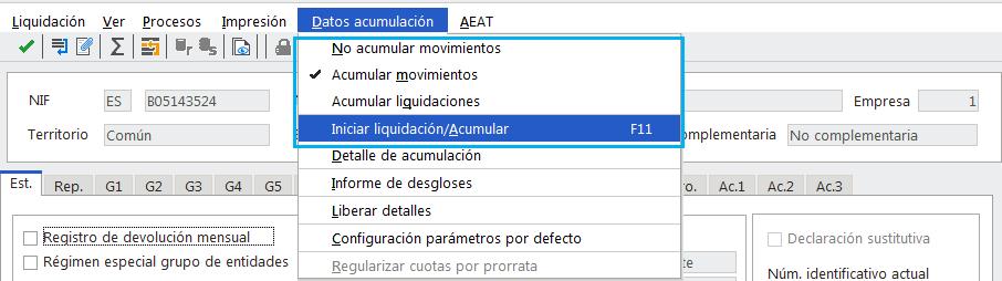 Datos Acumulación