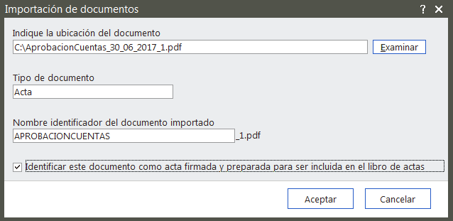 Importación de Documentos