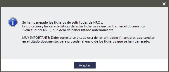 Información solicitud NRC